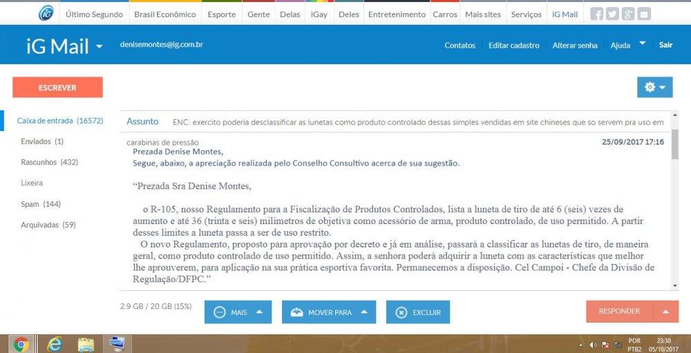 email  para exercito dfpc  tirar lunetas como produto controlado abrindo para no brasil poder ser praticado benchrest e field target.JPG